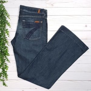 7 For All Mankind Dojo Flare Jeans 7FAM Trouser